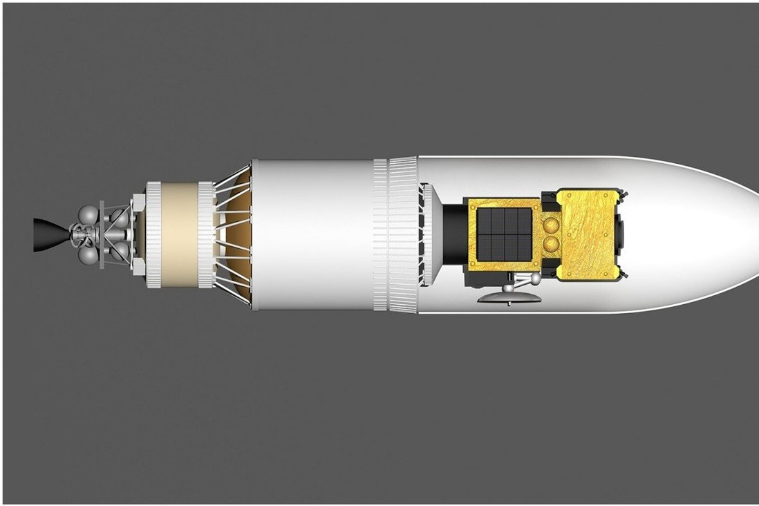 The so-called Assembled Kinetic Impactor within China's Long March 5 (CZ-5) rocket. The country hopes this device, on more than 20 rockets, will deflect potentially lethal asteroids and avoid devastation on Earth. Photo: Handout.